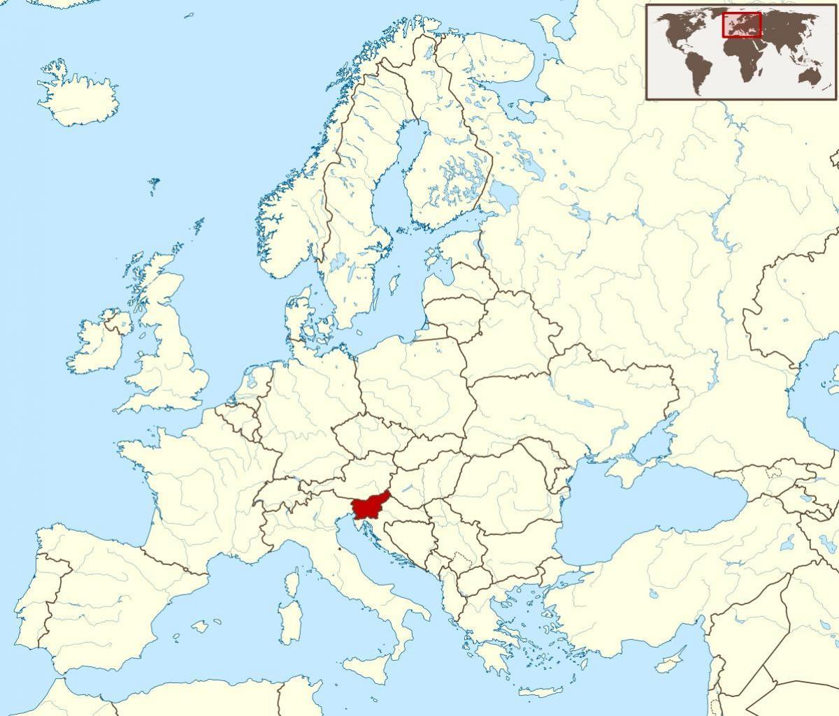 slovenie carte du monde